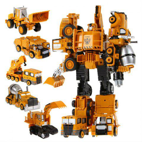 Sale Transform Warrior 3D Robot Car Building Block Puzzle - STYLE 3 COLORMIX Mobile