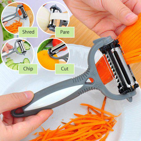 Cheap Multifunctional 360 Degree Rotary Gadget Vegetable Fruit Slicer Kitchen Cooking Tools - GRAY  Mobile