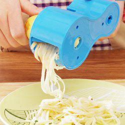2 in 1 Spiral Cutter with Knife Sharpener Function - BLUE