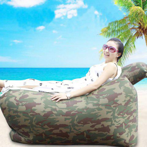 Portable Inflatable Lazy Sofa Beach Chair with Pillow for Outdoor Sports - CAMOUFLAGE