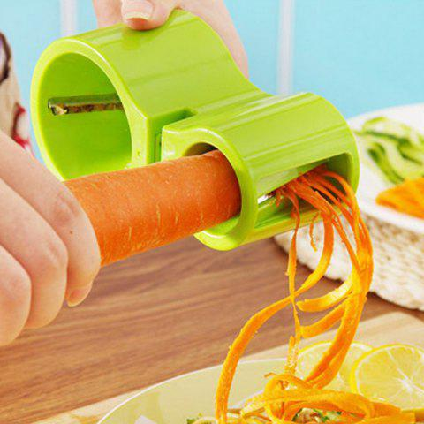 Unique 2 in 1 Spiral Cutter with Knife Sharpener Function - GREEN  Mobile