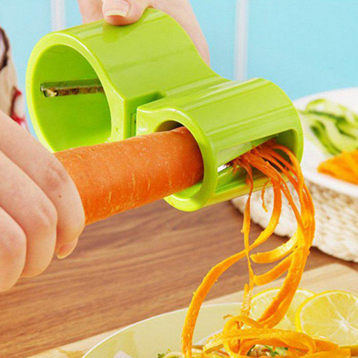 Unique 2 in 1 Spiral Cutter with Knife Sharpener Function