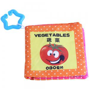 Baby Chinese English Russian Cloth Book Early Development Toy - 4pcs / set -
