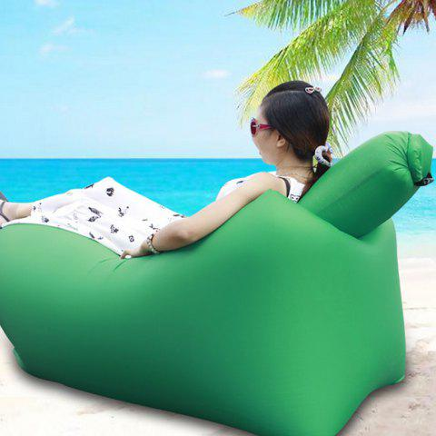 Trendy Portable Inflatable Lazy Sofa Beach Chair with Pillow for Outdoor Sports GREEN