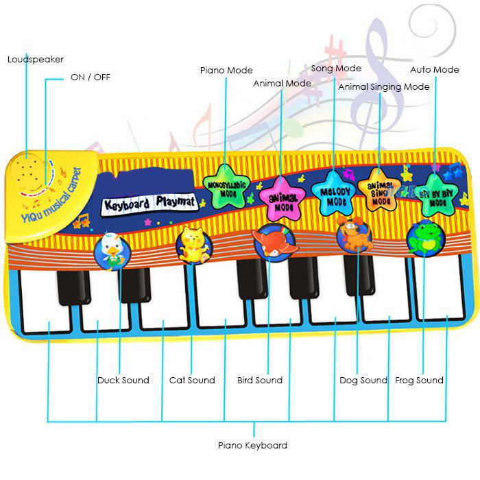 Fashion Animal Piano Music Mat for Enhancing Kid Intelligence Development