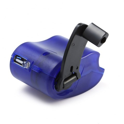 Shop NO Portable Hand Manual USB Emergency Charger with Multiple USB Connector for Mobile Phone - SAPPHIRE BLUE  Mobile