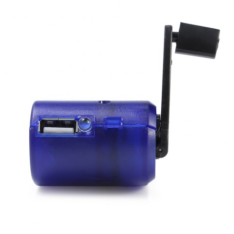 Discount NO Portable Hand Manual USB Emergency Charger with Multiple USB Connector for Mobile Phone - SAPPHIRE BLUE  Mobile