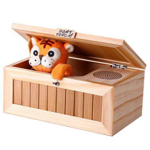 Unique Plush Tiger Style Wooden Box with Sound Electronic Machine Fully Assembled