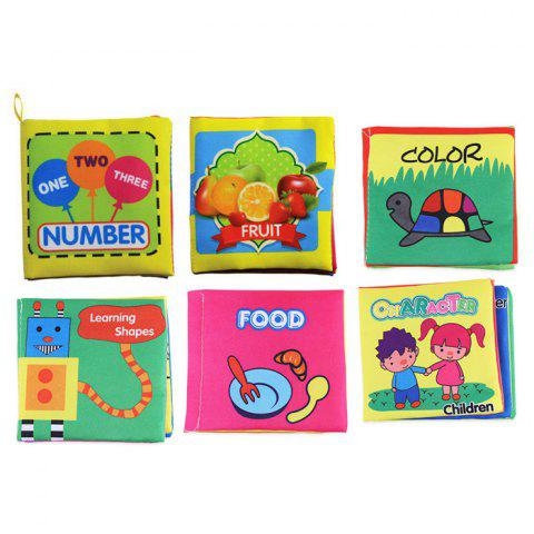 Shop Baby Fabric Books Picture Recognition Intelligence Toy - 6pcs / set