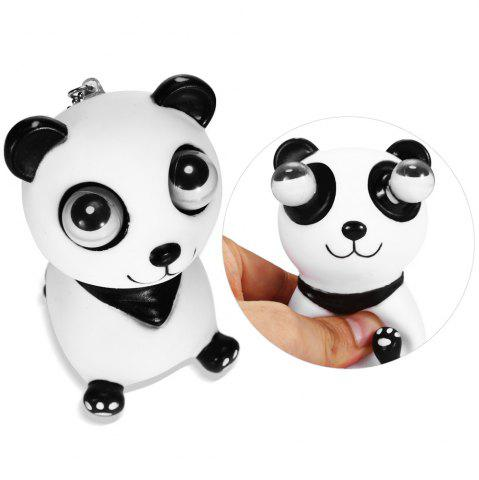 Trendy Scary Horror Props Popping Out Eyeball Animal Model Party Bar Trick Toy - WHITE AND BLACK  Mobile