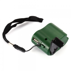 NO Portable Hand Manual USB Emergency Charger with Multiple USB Connector for Mobile Phone - GREEN
