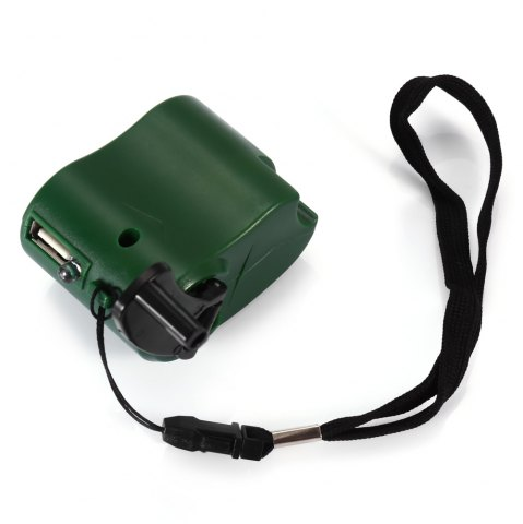 Hot NO Portable Hand Manual USB Emergency Charger with Multiple USB Connector for Mobile Phone - GREEN  Mobile
