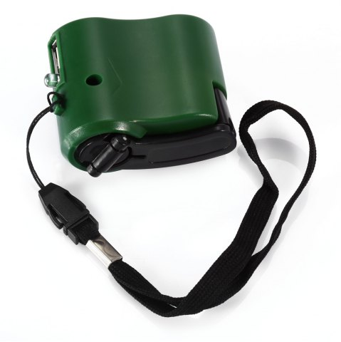 Shop NO Portable Hand Manual USB Emergency Charger with Multiple USB Connector for Mobile Phone - GREEN  Mobile