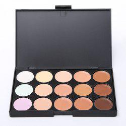 Fashionable Professional Face Concealer Women Cosmetic Kit with Rectangle Box (15 Colors) -
