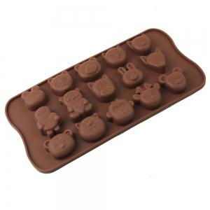 Lovely Animals Style Chocolate Pudding Ice Cube Tray with 15 Ice Grids -