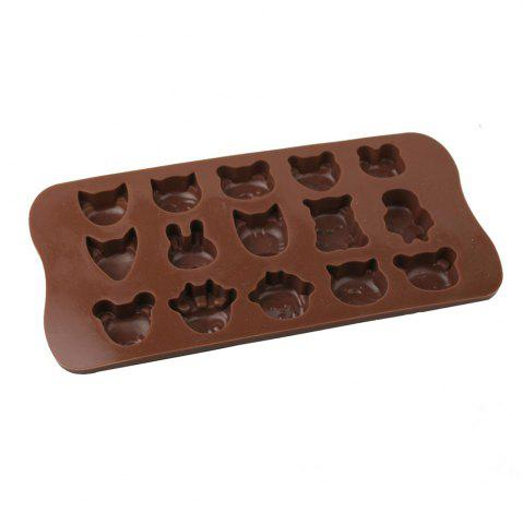 Sale Lovely Animals Style Chocolate Pudding Ice Cube Tray with 15 Ice Grids