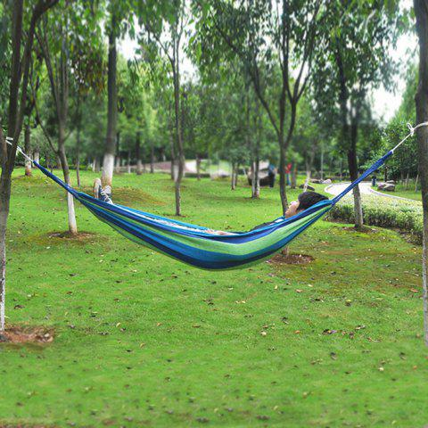 Affordable Durable Camping Canvas Hammock with 120KG Loading - BLUE  Mobile