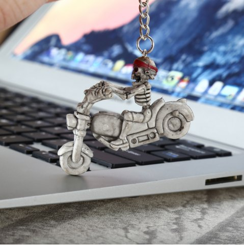 Best 2pcs Creative Skull Shape Bulk Key Chain - GRAY  Mobile