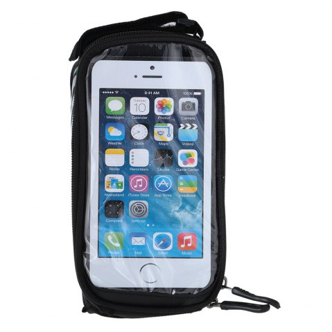 Shops B - SOUL YA0207 1.8L Water Resistant 5.7 inch Touch Screen Bicycle Front Tube Bag -   Mobile