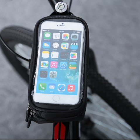 Store B - SOUL YA0207 1.8L Water Resistant 5.7 inch Touch Screen Bicycle Front Tube Bag -   Mobile