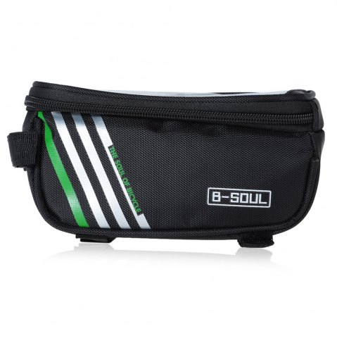Affordable B - SOUL YA0207 1.8L Water Resistant 5.7 inch Touch Screen Bicycle Front Tube Bag -   Mobile