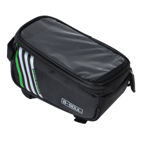 Discount B - SOUL YA0207 1.8L Water Resistant 5.7 inch Touch Screen Bicycle Front Tube Bag -   Mobile