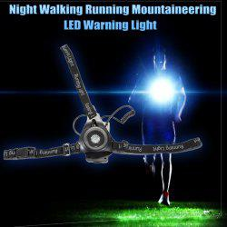 Water Resistant LED Warning Light with Strap for Night Walking Running Mountaineering