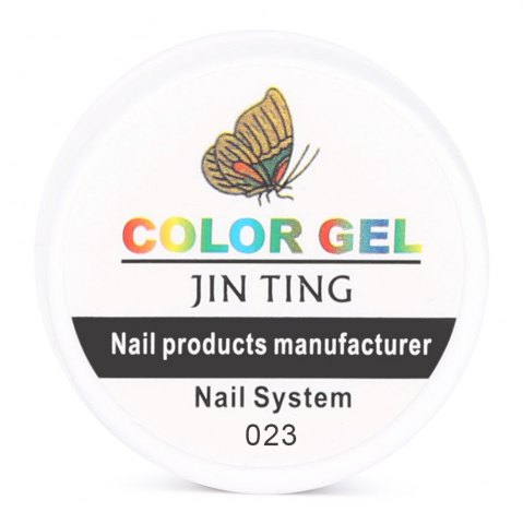 Latest 36 Pure Color UV Gel Nail Art DIY Decoration for Nail Manicure Gel Nail Polish Extension - 23 WHITE Mobile