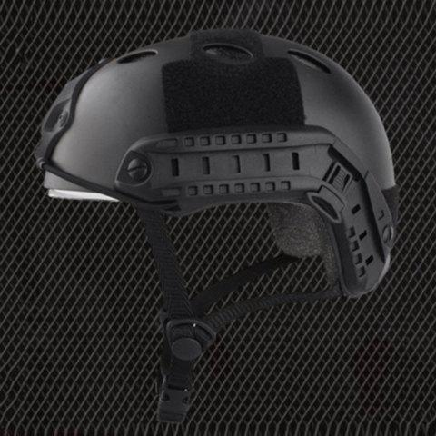 Unique Lightweight Crashworthy Protective Helmet for CS Airsoft Paintball Game - BLACK  Mobile