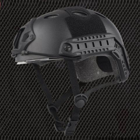 Fashion Lightweight Crashworthy Protective Helmet for CS Airsoft Paintball Game - BLACK  Mobile
