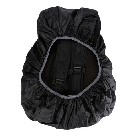 Fashion 55 - 60L Dustproof Backpack Cover Water Resistant Camping Accessories - BLACK  Mobile