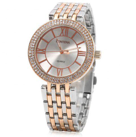 Outfit contena GENEVA Business Style Diamond Round Dial Female Quartz Watch