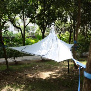 Camping Suspended Hammock with 220kg Loading / 190T Nylon Cover - COLORMIX