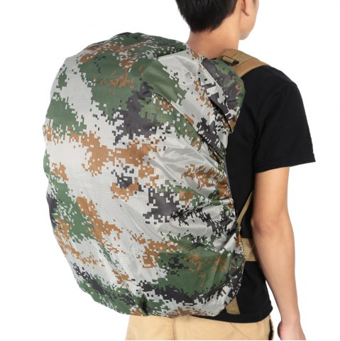 Best Dustproof Water Resistant Backpack Cover Camping Accessories for 55 - 60L Bag - CAMOUFLAGE  Mobile