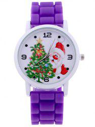 Santa Christmas Tree Quartz Watch - PURPLE
