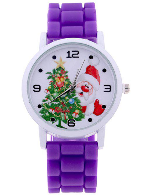 Santa Christmas Tree Quartz WatchJEWELRY<br><br>Color: PURPLE; Watches categories: Children watch; Watch style: Fashion;