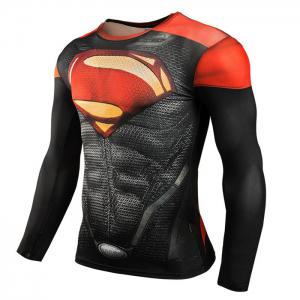 Men Cartoon Print Compression Tight T Shirt Fitness Tops -