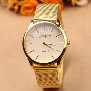 Alloy Steel Band Quartz Watch -