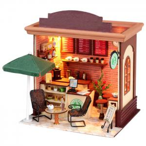 Doll House LOZ ABS Street View Architecture Building Block Educational Movie Product Kid Toy -