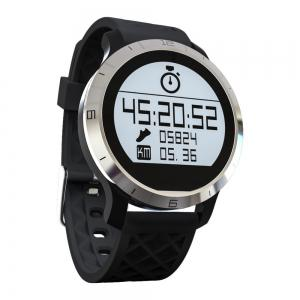 F69 Bluetooth 4.0 Smart Sports Swimming Watch with Heart Rate Function - BLACK