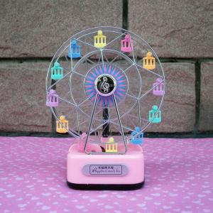 Colorful Ferris Wheel Music Box with Lighting Effect Romantic Birthday Gift for Girls - COLORMIX