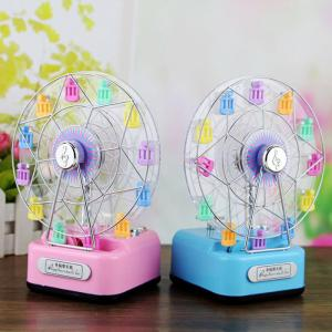 Colorful Ferris Wheel Music Box with Lighting Effect Romantic Birthday Gift for Girls -