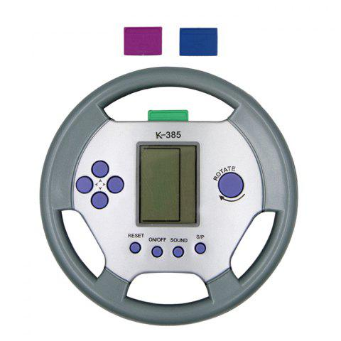 Steering Wheel Shape Tetris Game Console with Pause Function - COLORMIX