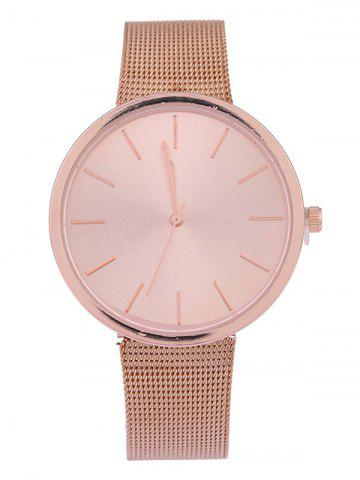 Steel Mesh Band Quartz Watch - ROSE GOLD