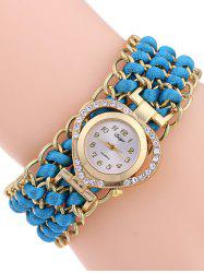 Casual Tiered Rhinestone Heart Watch