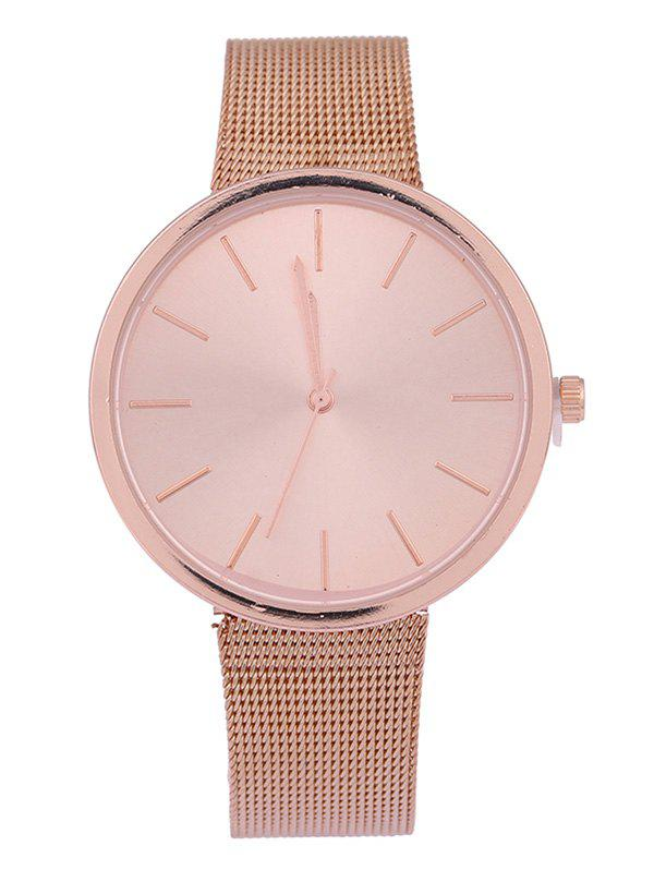 Discount Steel Mesh Band Quartz Watch