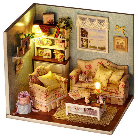Fancy Wooden DIY Doll House Miniature Kit with LED Light Handcraft Toy