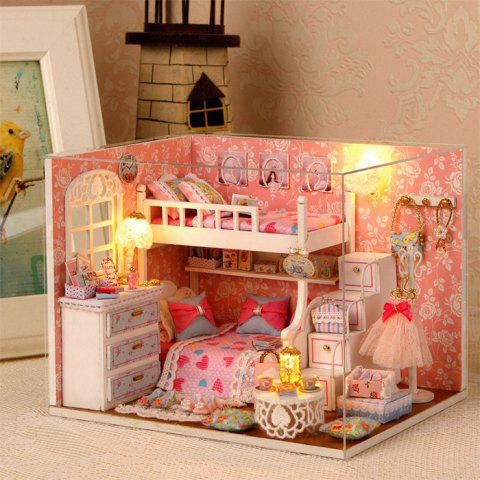 Store DIY House Miniature Kit with LED Light Children Wooden Handcraft Toy