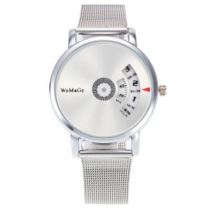 Steel Watchband Digital Analog Watch