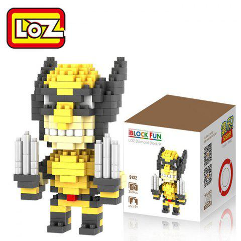 Outfits LOZ 200Pcs X-Men Wolverine Building Block Creative Kid Toy M - 9132